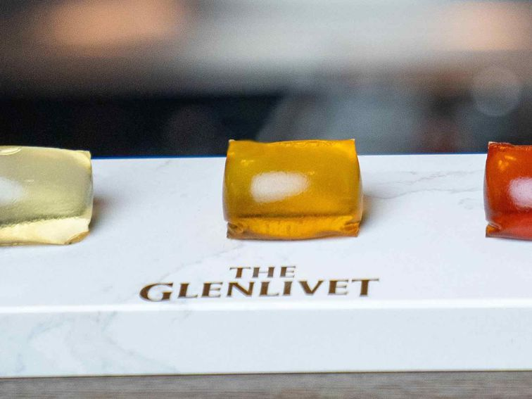 Glenlivet seaweed capsules look like whisky-filled Tide Pods